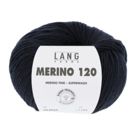 Merino 120 34.0025 Nacht Blauw