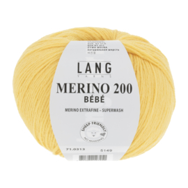 Merino Bebe 71.0313 Geel