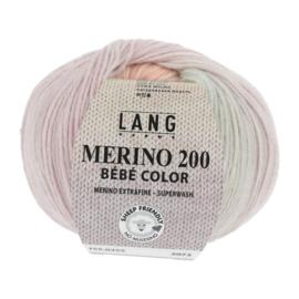 Merino Bebe 155.0355 groen/zalm/lila