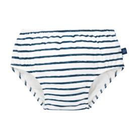 Zwempamper navy stripes 6 maanden