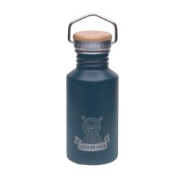 Lassig roestvrij stalen fles Adventure blauw