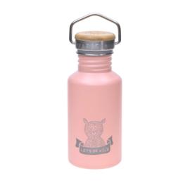 Lassig roestvrij stalen fles Adventure roze