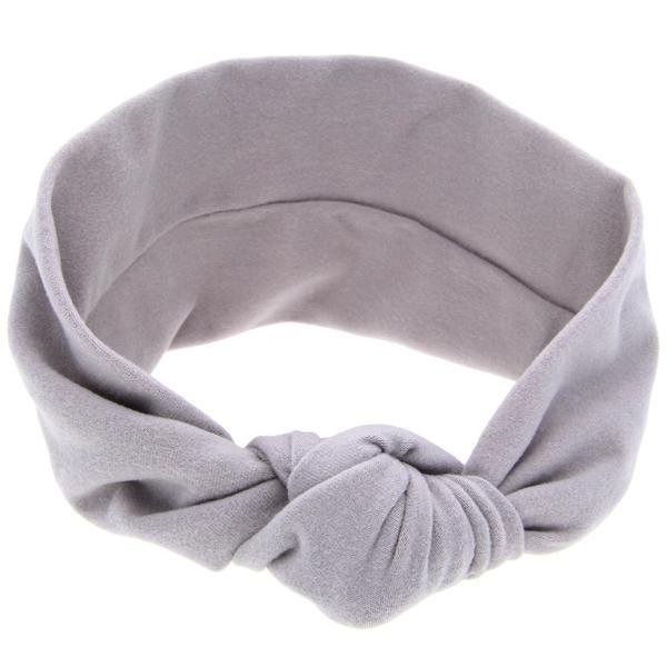 Haarband knot grijs
