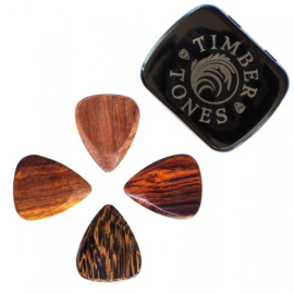 Timber Tones Acoustic Guitar Mixed Tin / 4 verschillende Plectrums