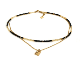 Black & Gold ketting