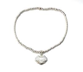 Zilveren Armband Bewerkt Hart