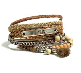 Taupe, Camel & Creme Armbanden