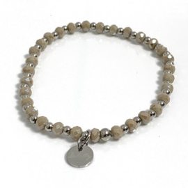 Armband edelstaal taupe