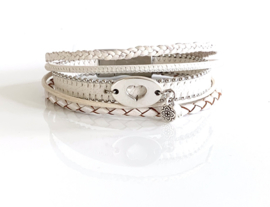 White Zilver armband