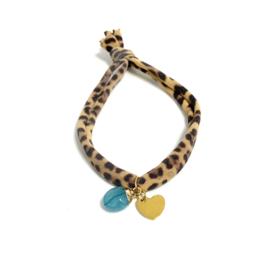 Leopard, gold & blue