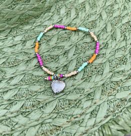 Multicolor Silver Armband