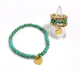 Set goud/turquoise Hermatiet