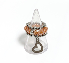 Set van 3 ringen orange
