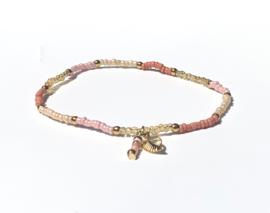 Pink & Creme Gold Armband