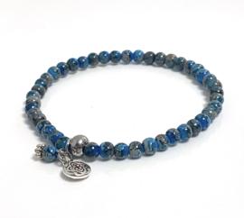 Dark blue 3mm armband