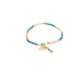 Turquoise & Creme Gold Armband