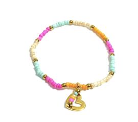 Multicolor Gold armband
