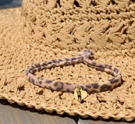 Black & Panterprint Gold Armband