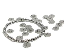 Armband gepersonaliseerde  edelstaal 4mm