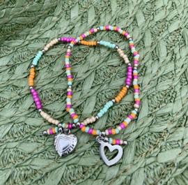 Multicolor & Silver Armband