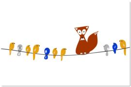 Foxy met Vogeltjes