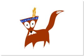 Foxy als Indiaan