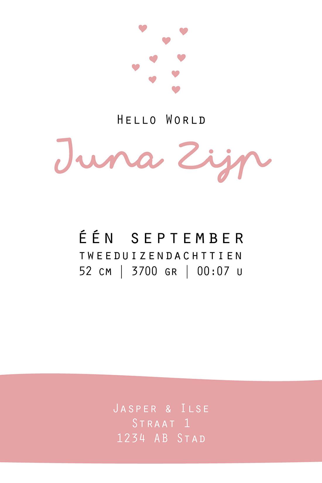 Geboortekaartje Juna