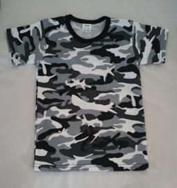 T shirt met legerprint