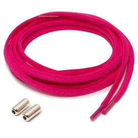 Elastische veters donker roze