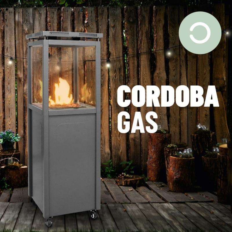 OUTR CORDOBA 4 KANTEN GLAS terrasverwarmer