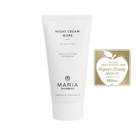 NIGHT CREAM MORE | Luxe nachtcrème voor de rijpere huid WINNAAR ORGANIC BEAUTY AWARDS 2020!!