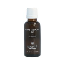 ROYAL FACIAL OIL GLA   een gladmakende en hydraterende gezichtsolie met borageolie, Jojoba-olie en Rozenbottelzaadolie. Geschikt voor de huid met eczeem.