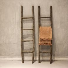 Houten ladder vintage finish