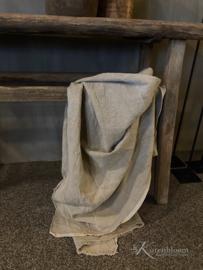 Shabby plaid linnen doek XL 260x140