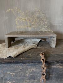 Aura Peeperkorn houten bankje krukje