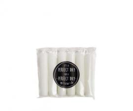 Korte kaarsen wit