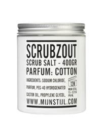Scrubzout geur Cotton