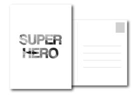 A6 Kaart | Superhero