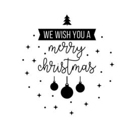 Eenmalige sticker | We wish you a merry christmas