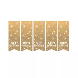 Sticker | Happy holidays (10 stuks)