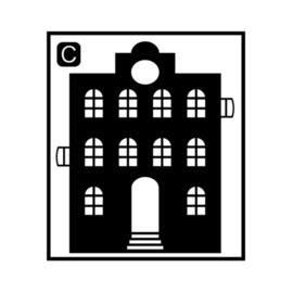 Herbruikbare raamstickers | Huisje C