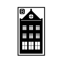Herbruikbare raamstickers | Huisje B