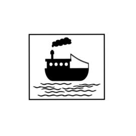 Herbruikbare raamstickers | Stoomboot