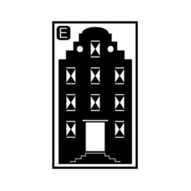 Herbruikbare raamstickers | Huisje E