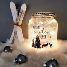 DIY Pakket | Waxinelichthouder kerst