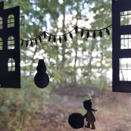 Herbruikbare raamsticker | Kerst uitbreiding