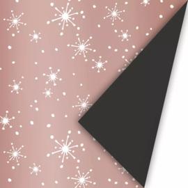 Cadeaupapier | Reach for the stars - matellic rosegoud (30x300 cm)