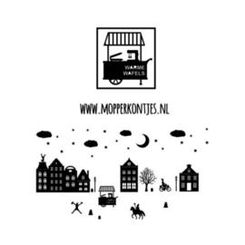 Herbruikbare raamstickers | Kar warme wafels