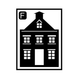 Herbruikbare raamstickers | Huisje F