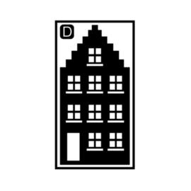 Herbruikbare raamstickers | Huisje D